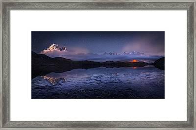 Lac Des Cheserys Framed Print