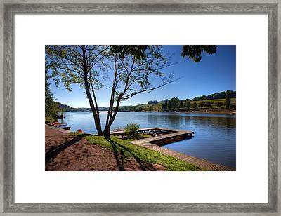 Lac Des Sapins Framed Print