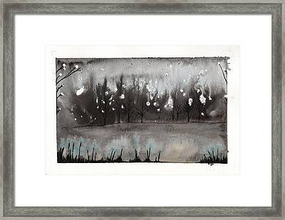 Lac En Cendres Framed Print by Marc Philippe Joly