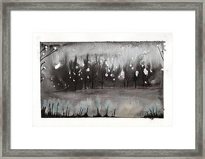 Lac En Cendres Framed Print