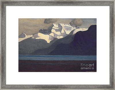 Lac Leman And Les Dents-du-midi Framed Print by Felix Edouard Vallotton