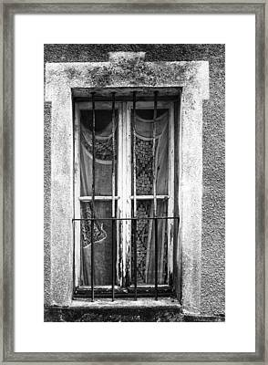 Lace And Bars Framed Print