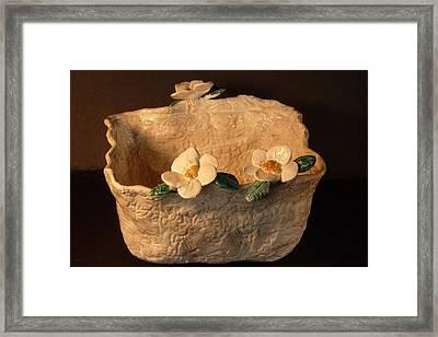 Lace Bowl Sculpture Framed Print by Debbie Limoli