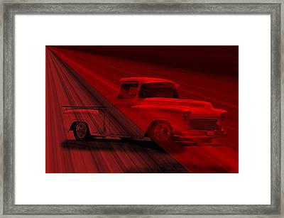 Lace Curtains 1956 Chevy Pick Up Framed Print by Dave Koontz