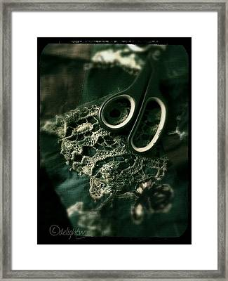 Framed Print featuring the digital art Lace by Delight Worthyn