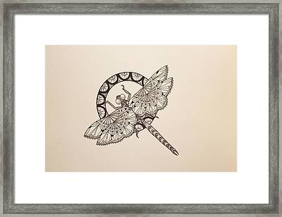 Lace Dragonfly Framed Print by Jodi Harvey-Brown