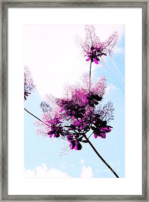 Lace Flowers Framed Print by Kathleen Struckle