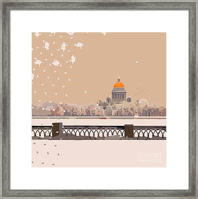 Lace Lace Snowflakes Framed Print