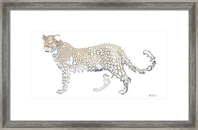 Framed Print featuring the digital art Lace Leopard by Stephanie Grant