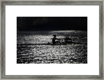 Lace  Of Lake Framed Print