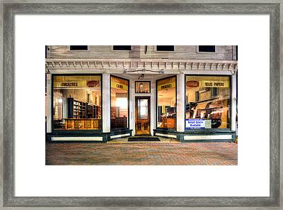 Lackey's Drug Store - Stowe Vermont Framed Print