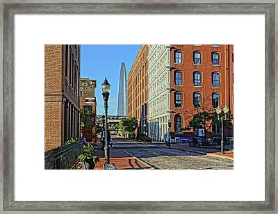 Laclede's Landing Just North Of The Arch Framed Print
