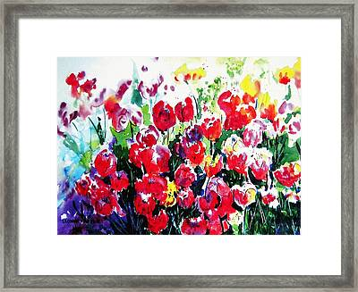 Framed Print featuring the painting Laconner Tulips by Marti Green