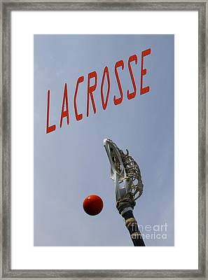 Lacrosse Is The Word 1 Framed Print