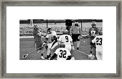 Lacrosse - Stick To The Face Framed Print by Benjamin Yeager