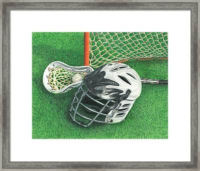 Lacrosse Framed Print by Troy Levesque
