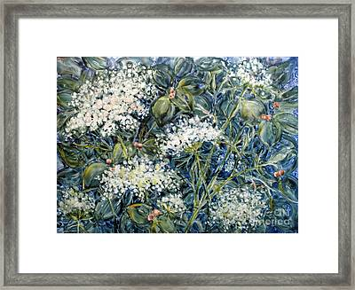 Lacy Blue Framed Print