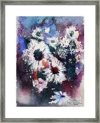Framed Print featuring the painting Lacy Petals by Joan Hartenstein