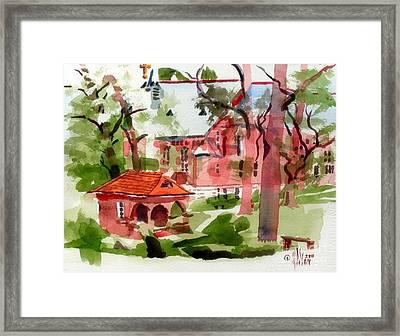 Lacy Spring Greens At Ursuline Academy Framed Print by Kip DeVore