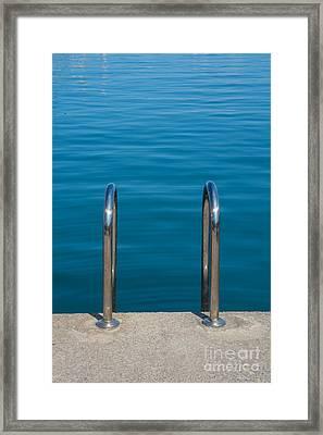 Ladder Into The Sea Framed Print by Christina Rahm