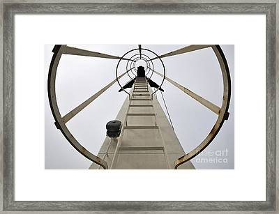 Ladder On A Ferry Boat Framed Print