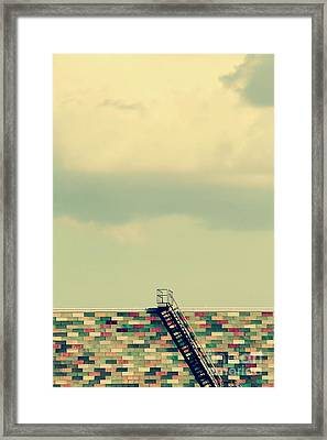 Ladder To Nowhere  Framed Print by Trish Mistric