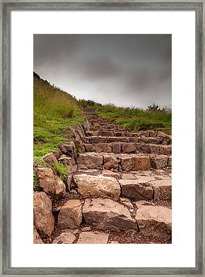Framed Print featuring the photograph Ladder To The Sky by Sergey Simanovsky