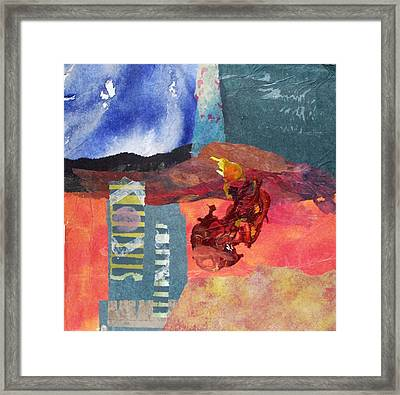 Ladder To The Underworld Framed Print by MtnWoman Silver