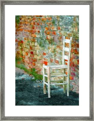 Ladder Back Chair Framed Print by Brenda Bryant