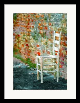 Ladder Back Chairs Paintings Framed Prints