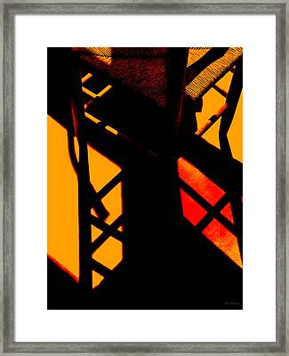 Ladderback Flamenco Framed Print by Lin Haring