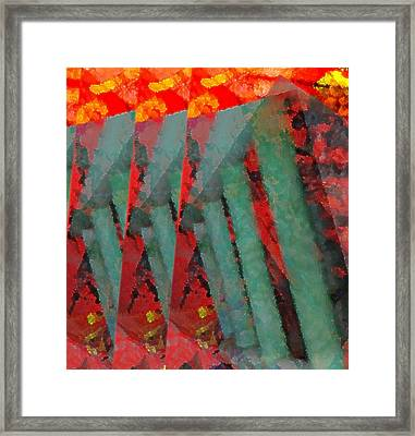 Ladders Framed Print by Kelly McManus