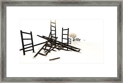 Ladders Framed Print