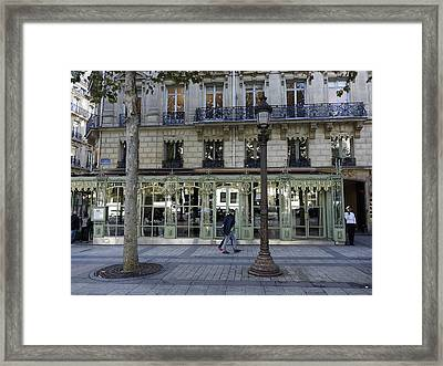 Laderee On The Champs De Elysees In Paris France  Framed Print