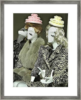 Ladies A La Mode Framed Print