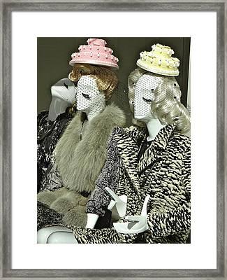 Ladies A La Mode Framed Print by Ira Shander
