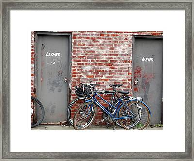 Ladies And Gents Framed Print