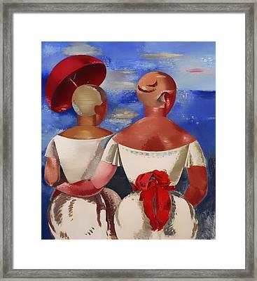 Ladies At The Seaside Framed Print