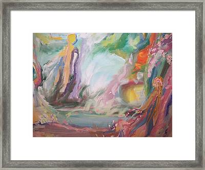 Ladies By The Pool Framed Print