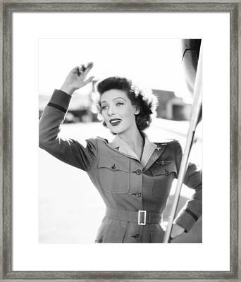 Ladies Courageous, Loretta Young, 1944 Framed Print by Everett