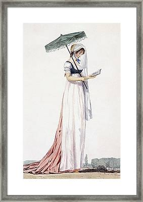 Ladies Elegant Summer Dress Framed Print by English School