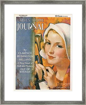 Ladies Home Journal 1930s Usa Golf Framed Print by The Advertising Archives