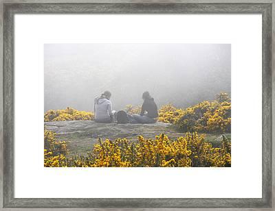 Dublin In The Mist Framed Print