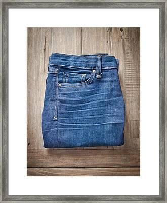 Ladies' Jeans Framed Print by Tom Gowanlock
