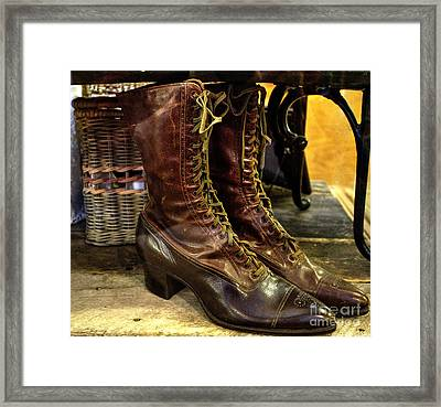 Ladies Lace-ups Framed Print