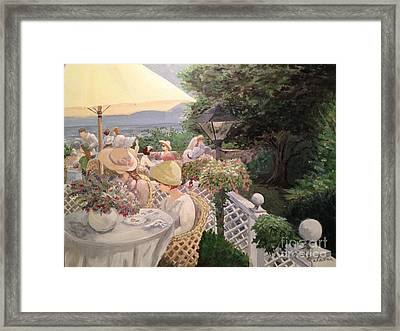 Framed Print featuring the painting Ladies Luncheon by Marilyn Zalatan