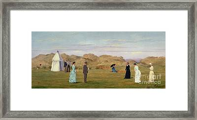 Ladies Match At Westward Ho Framed Print by Francis Powell Hopkins