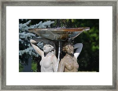 Ladies Of The Fountain Framed Print