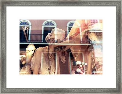 Framed Print featuring the photograph Ladies Of The French Quarter by Nadalyn Larsen