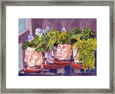 Framed Print featuring the painting Ladies Of The Garden by Sandy Linden